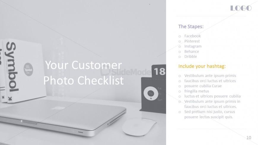 Social Media Checklist PowerPoint Cover