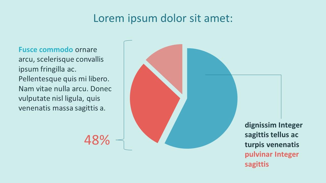 Flat Color Percentage Pie Chart Business Templates