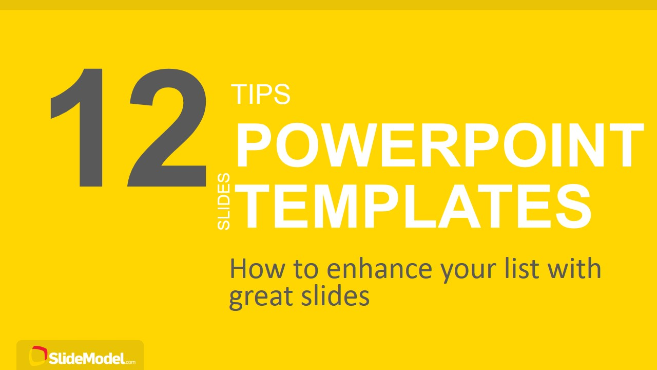 12 tips list powerpoint templates slidemodel ppt template for creating lists alramifo Choice Image