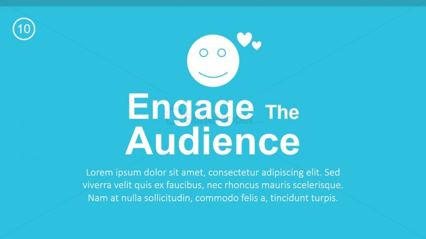 PPT Template Engage your Audience Message