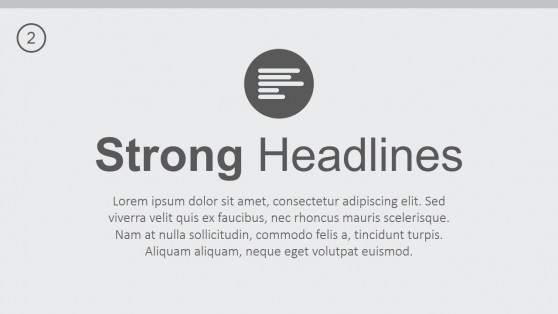 Strong Headlines PowerPoint Template