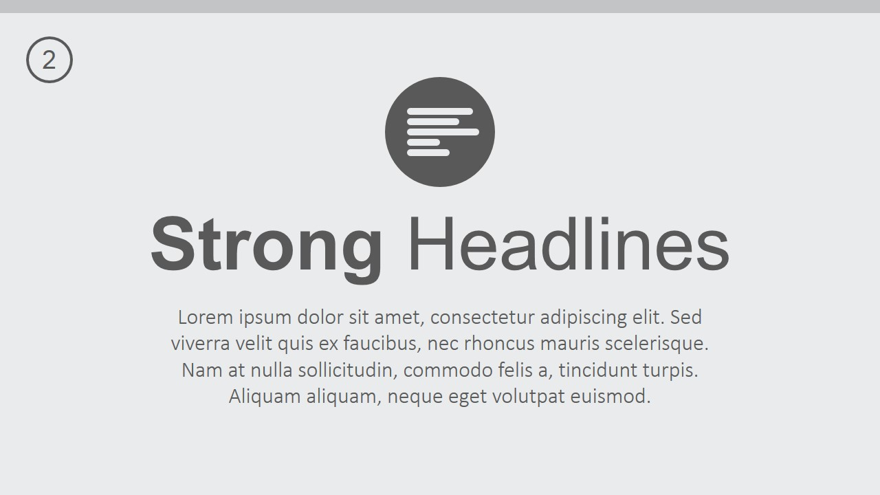 PPT Template Strong Headlines