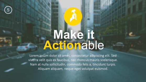 Make it Actionable Heading PowerPoint Template