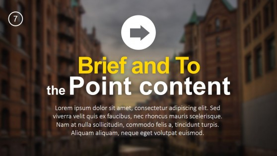 Brief and To the Point Content PowerPoint Template