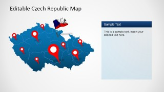 PPT Editable Czech Republic Map