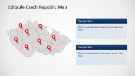 Greyed Out PowerPoint Map of Czech Republic