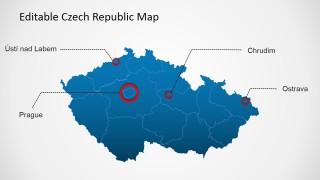 Czech Republic PPT Map with City Markers