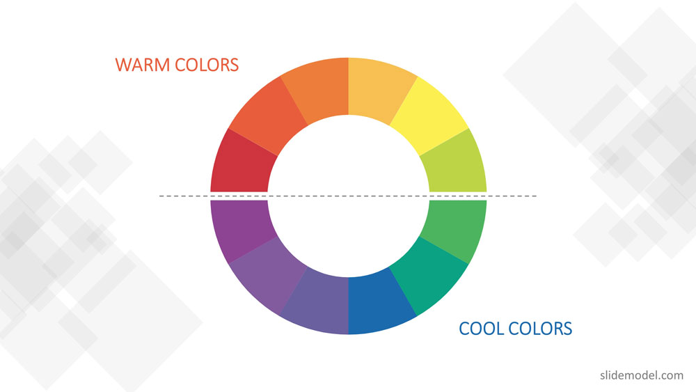 Warm and Cold Colors Banner PPT Templates