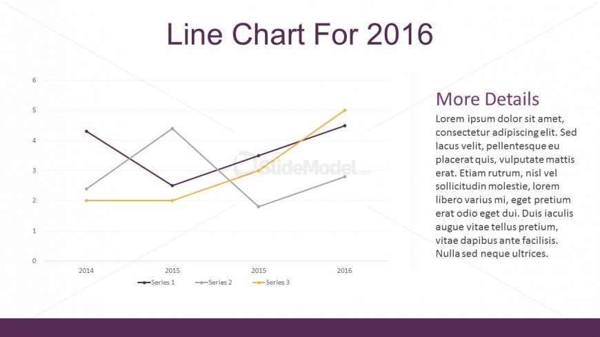 Line Chart Business Statistics For PowerPoint Template
