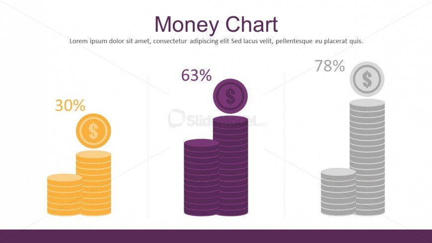 Money Chart Flat Infographic PowerPoint Templates