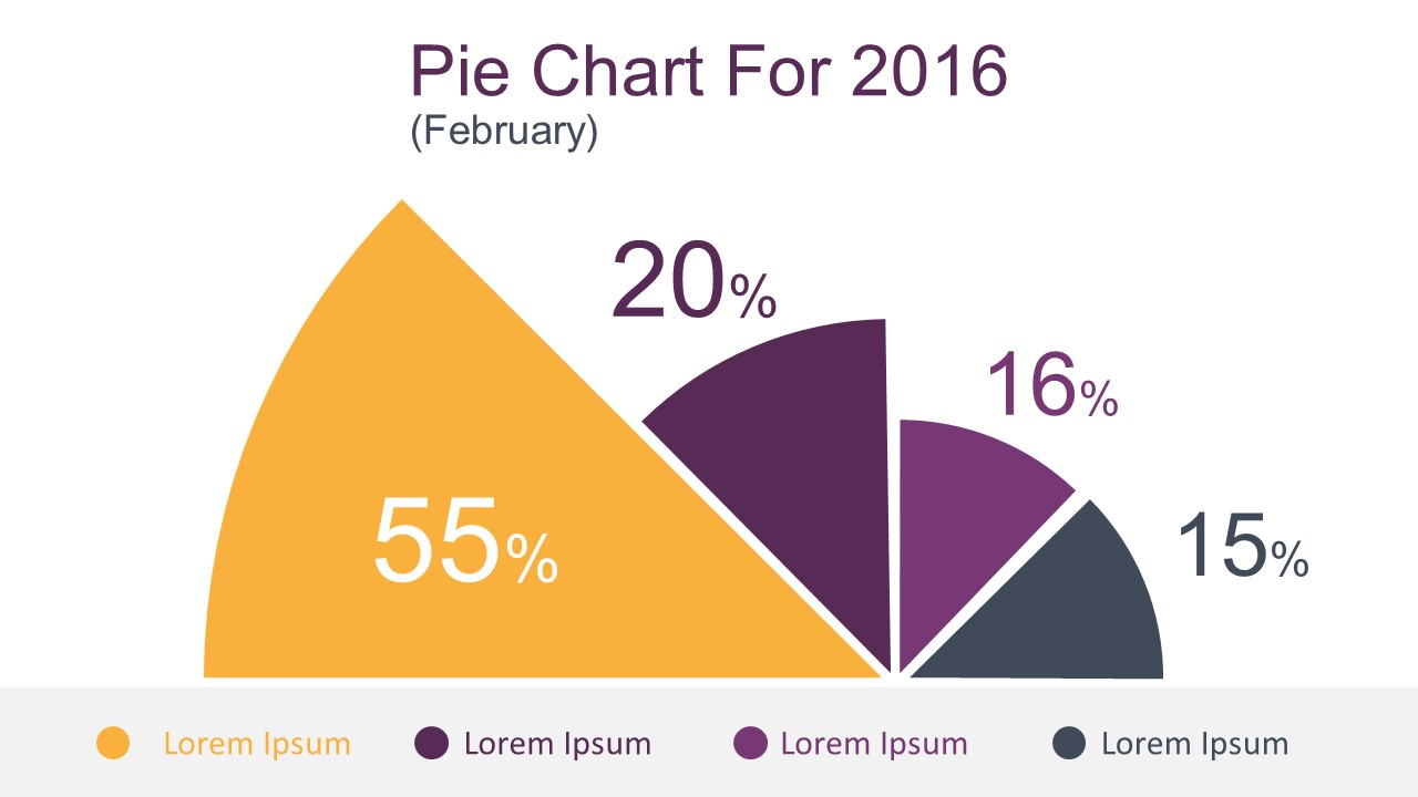 flat powerpoint pie chart for business presentations - slidemodel, Powerpoint templates