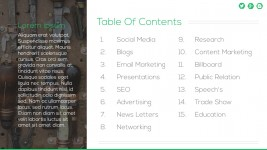 List of Tools PowerPoint Templates Table Of Contents