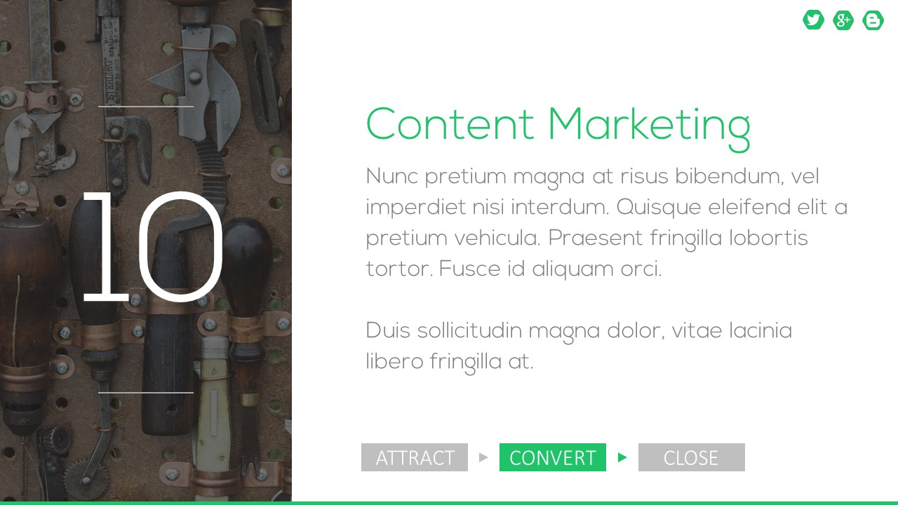SEO Content Marketing PowerPoint Templates