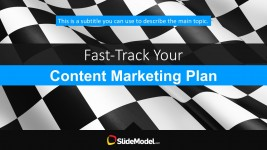 Content Marketing Plan Overview PowerPoint Templates Cover Slide
