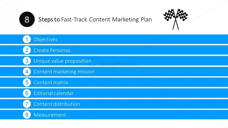 Steps To Fast Track Content Marketing Plan Powerpoint Templates