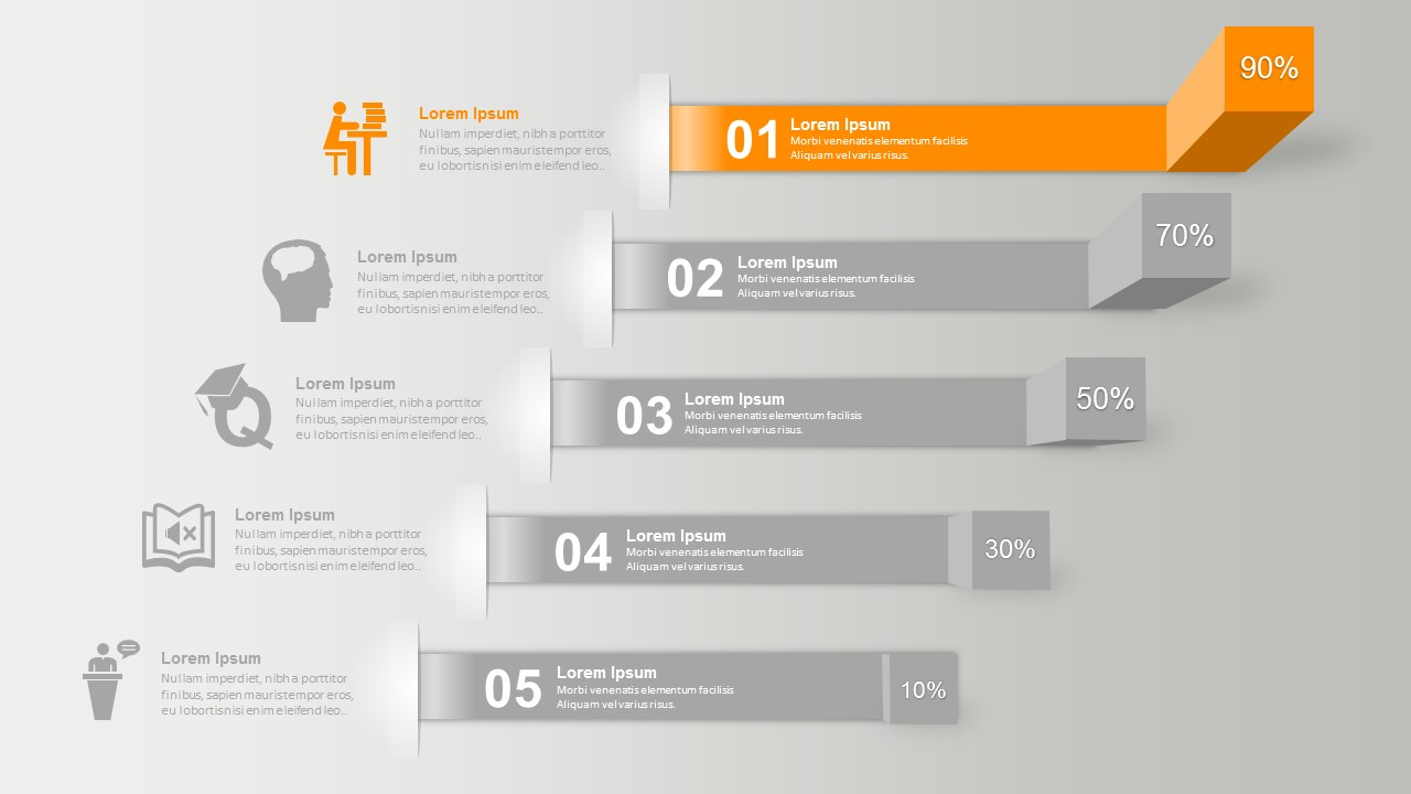 horizontal shelves powerpoint infographics