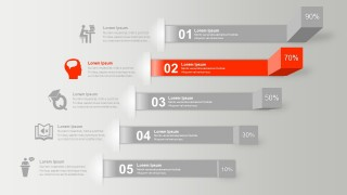 Data Driven 3D Infographic For Powerpoint