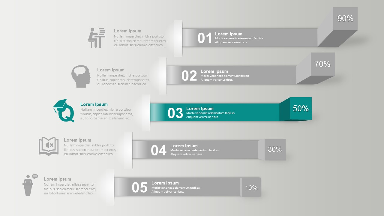 3D Process Chart For Business PowerPoint