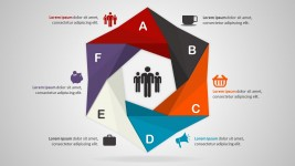 6 Steps Hexagonal PowerPoint Diagram