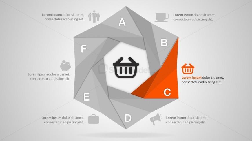 Bended Diagram In Cool PowerPoint Designs