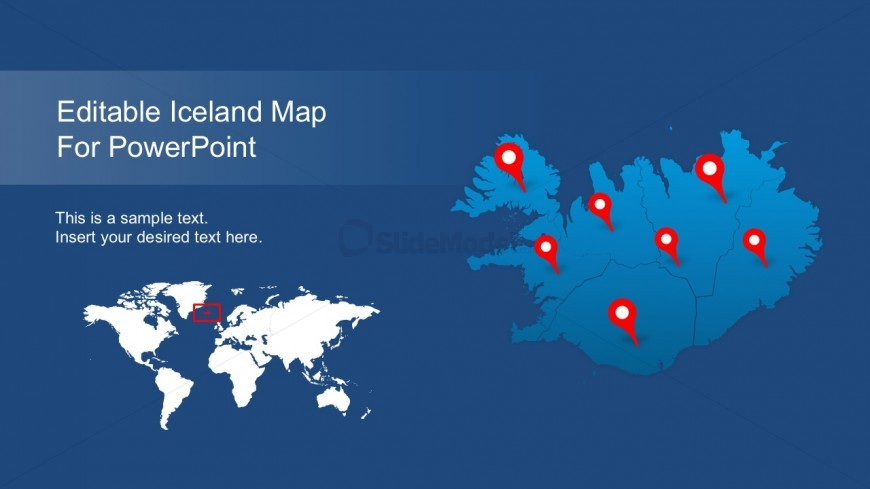 Editable Iceland Map For PowerPoint