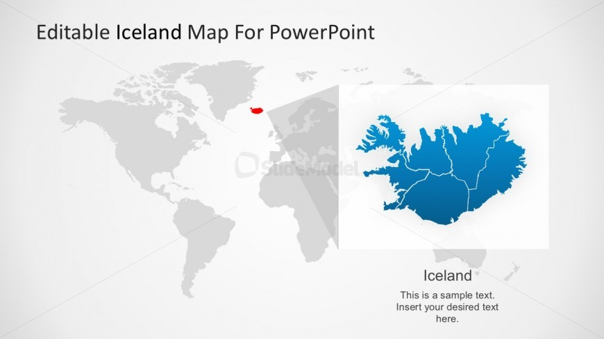 Fully Editable Iceland Map For PowerPoint