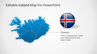 Iceland Outline Map For PowerPoint Presentation