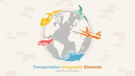 Creative Transportation Vehicle And World Map Infographics