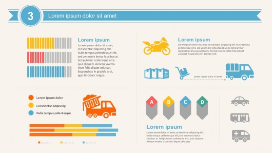 Transport Logistics And Supply Chain Data Charts Templates