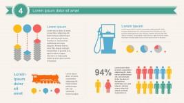 Creative Logistics Percentage Chart PowerPoint Vectors