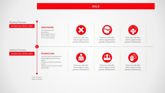 3 Steps Of Business Prospecting PowerPoint Template