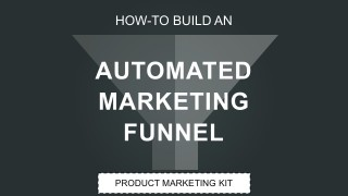 Automated Marketing Sales Funnel PowerPoint Cover Slide