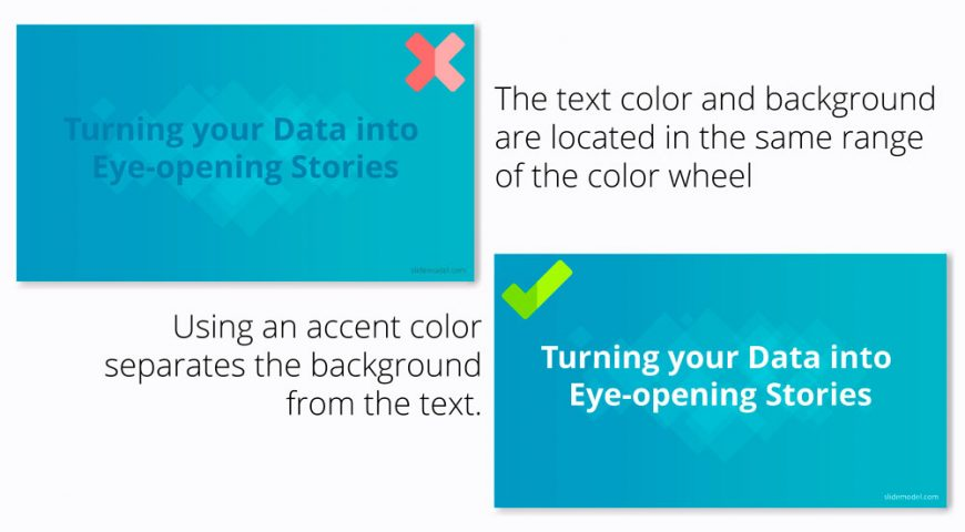 Dos And Donts Of Color Contrast Slidemodel