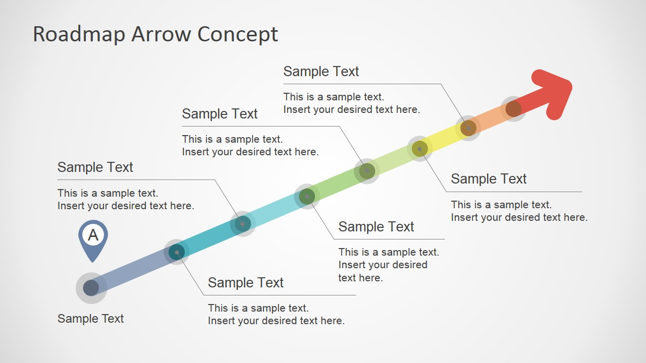 Colorful Roadmap Arrow Concept for PowerPoint - SlideModel