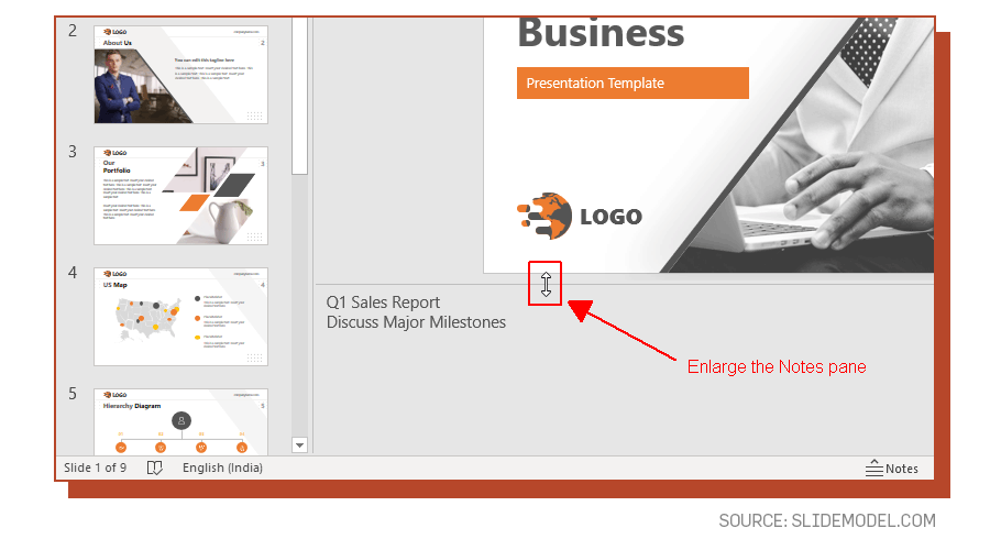 Adding Speaker notes to PowerPoint presentations