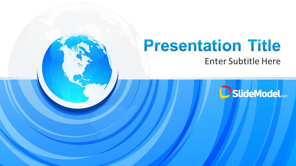 Blue Circle Professional Powerpoint Template - Slidemodel