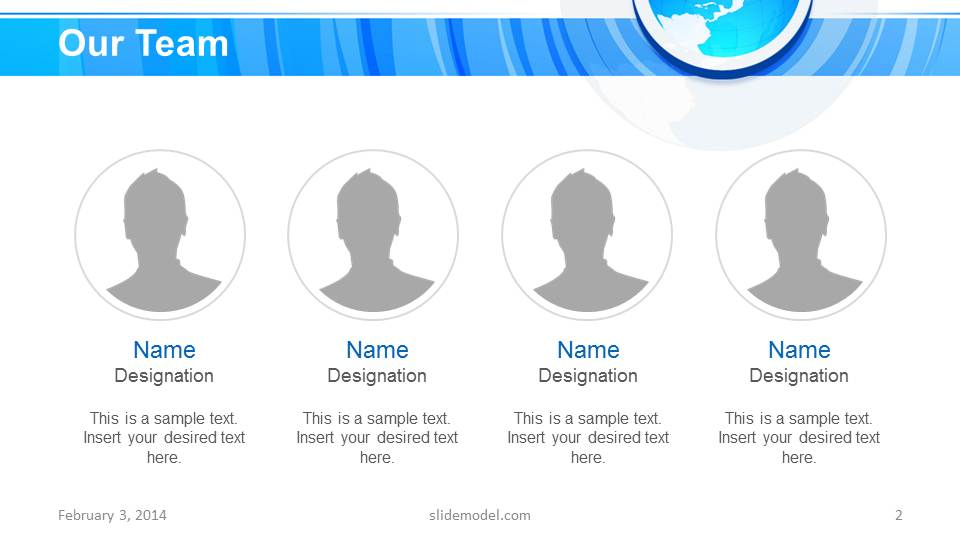 Blue Circle Professional PowerPoint Template