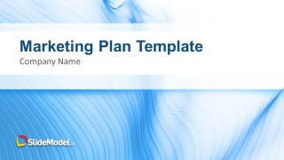 Blue Marketing Plan Template for PowerPoint