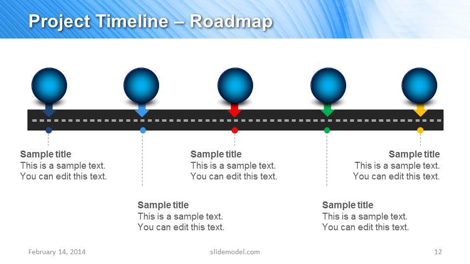 Blue Marketing Plan Template For PowerPoint SlideModel - Marketing plan timeline template