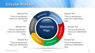 blue marketing plan template for powerpoint  slidemodel, Powerpoint