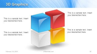 Colorful 3D Cubes Slide Design for PowerPoint