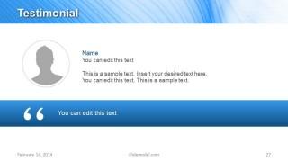 Testimonial Slide Design for PowerPoint