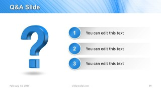 Q&A Slide Design for PowerPoint with 3 Bullet Points