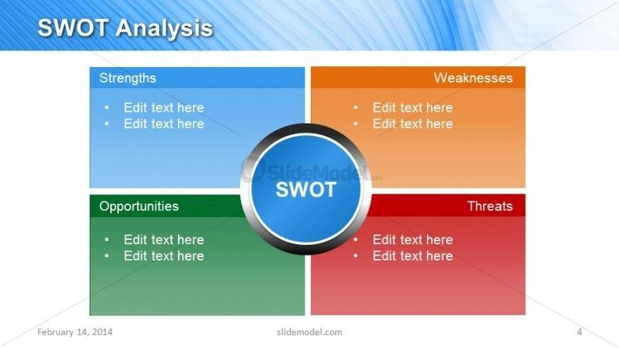 Gradient Swot Analysis Slide Design For Powerpoint
