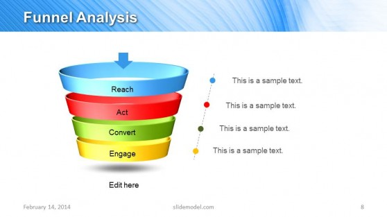 Funnel Analysis Diagram for Marketing Plan Presentations