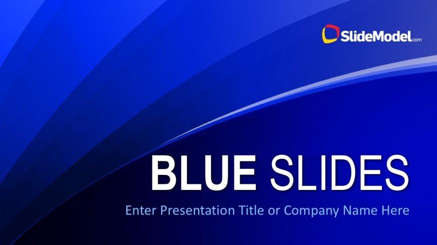 Blue Slide PowerPoint Template