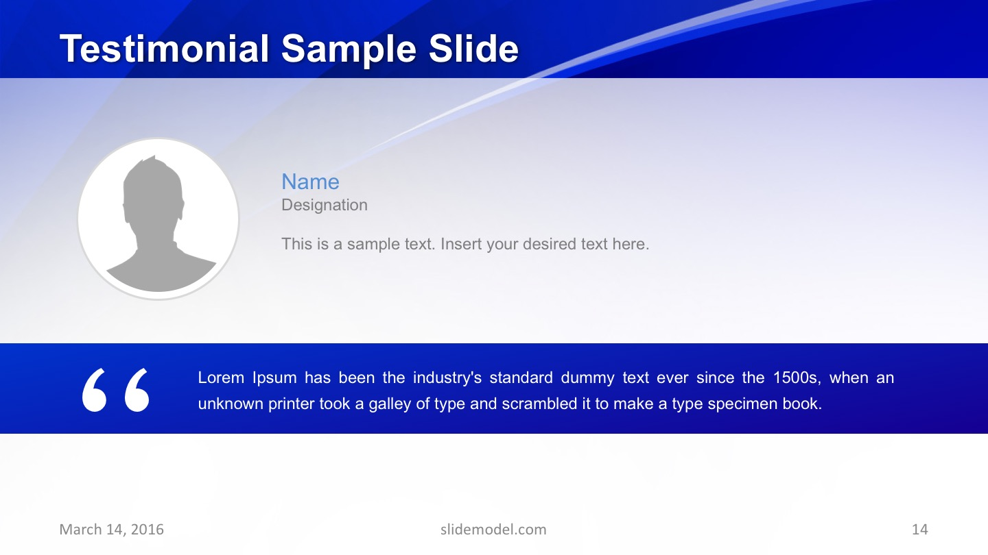 Testimonial Template Quote Slide
