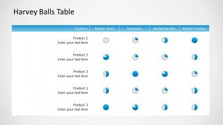 Harvey Balls Table Design for PowerPoint