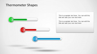 Lateral Thermometer Shapes for PowerPoint