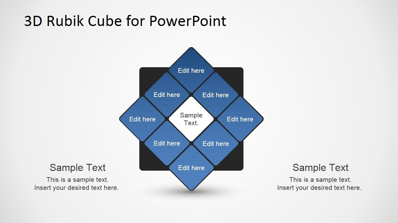 3d rubik cube powerpoint template - slidemodel, Modern powerpoint